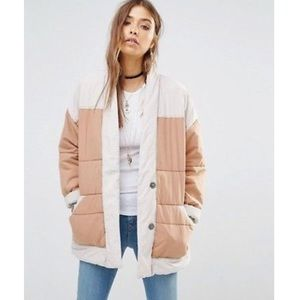 FREE PEOPLE Poplin Quilted Jacket